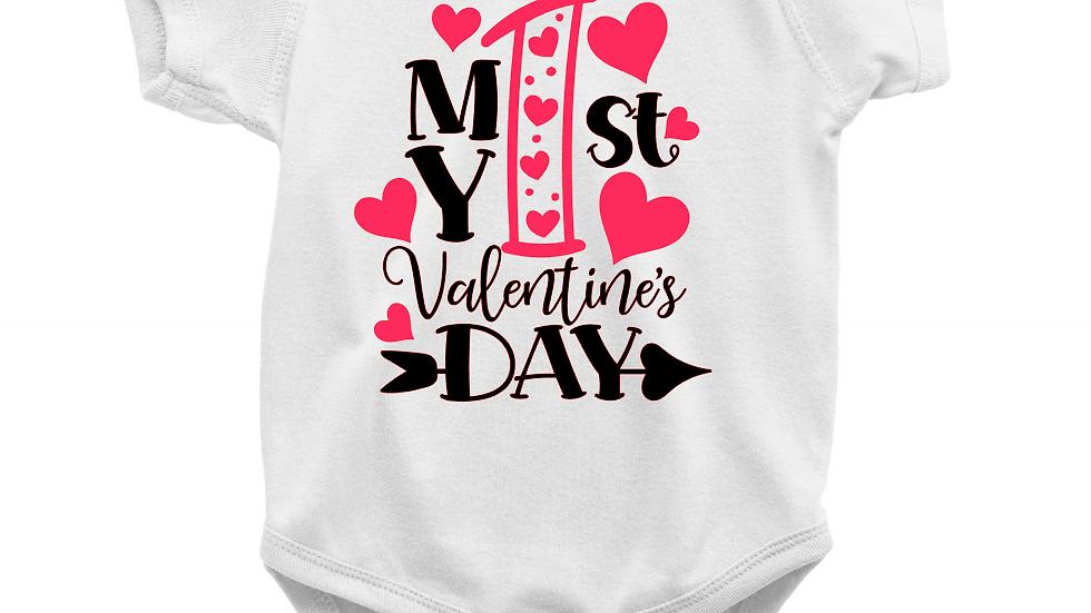 1st Valentine's Day Onesie