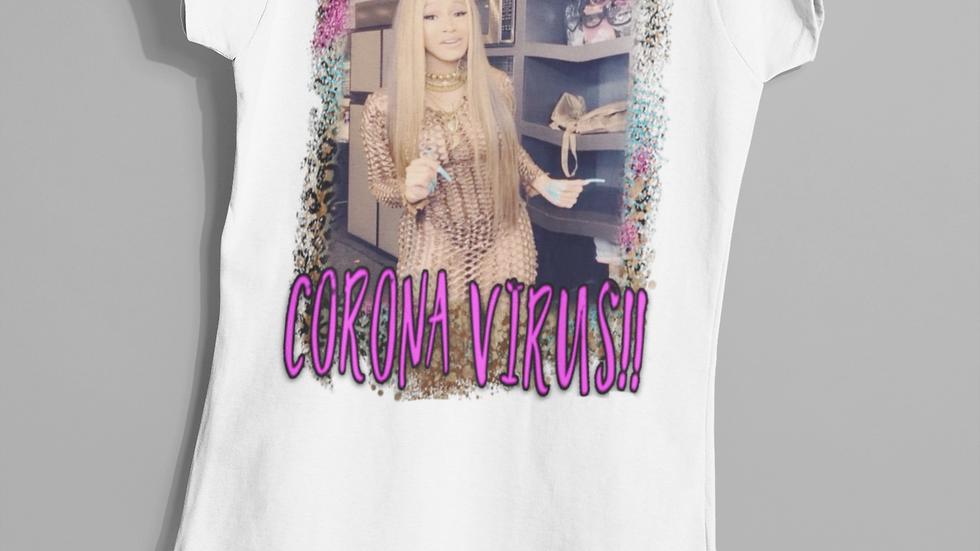 Cardi B Corona Virus T-Shirt