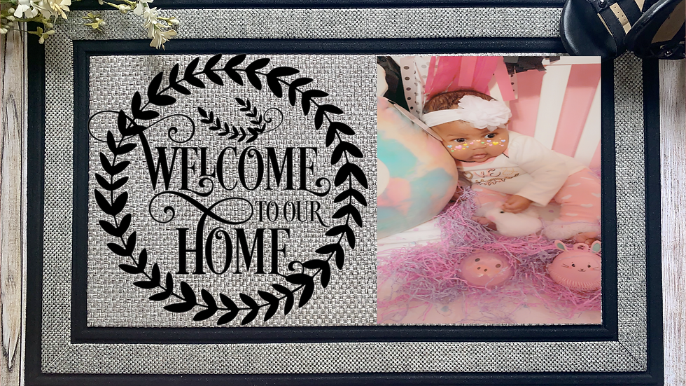 Welcome to Our Home Photo Mat