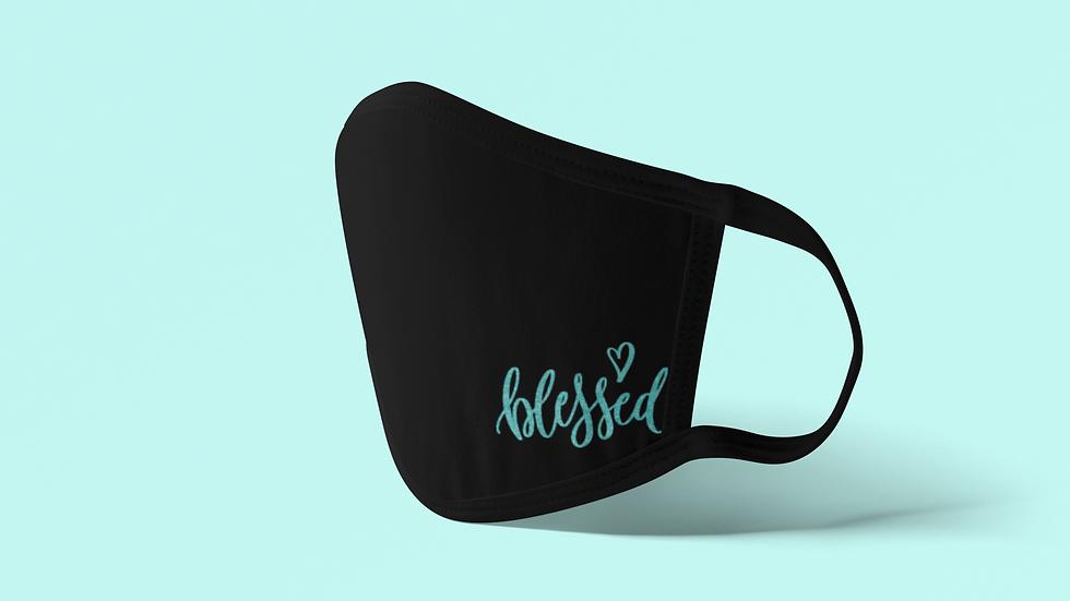 Blessed Corner Design Face Mask