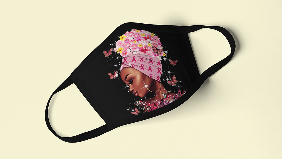 Butterfly Breast Cancer Mask