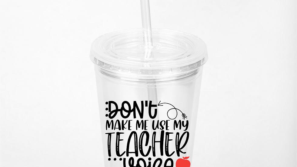 Teacher Voice Tumbler
