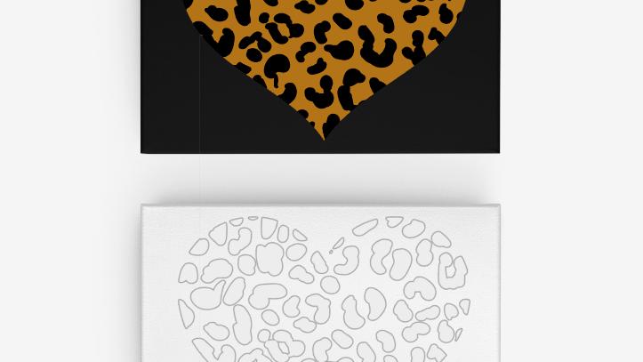 Leopard Heart Canvas