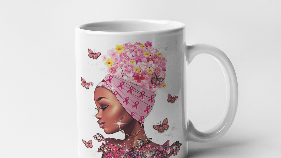 Butterfly Breast Cancer Mug