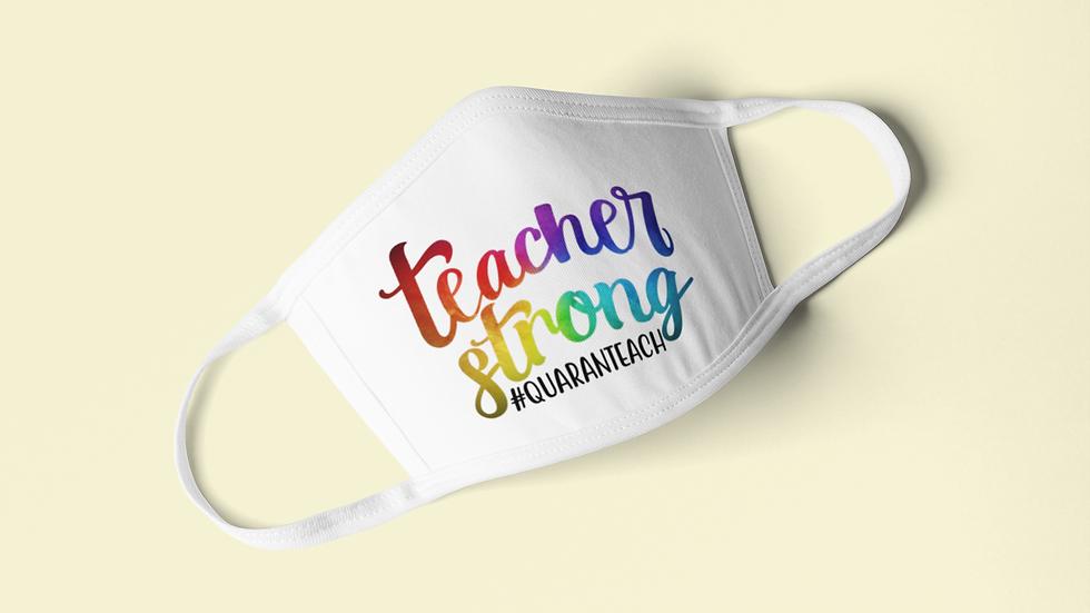 Teacher Strong Face Mask