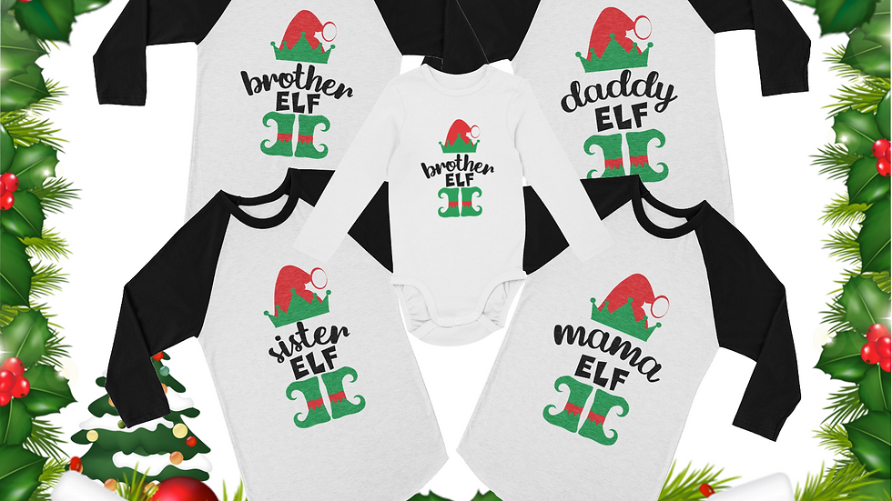 Elf Family Christmas Tees