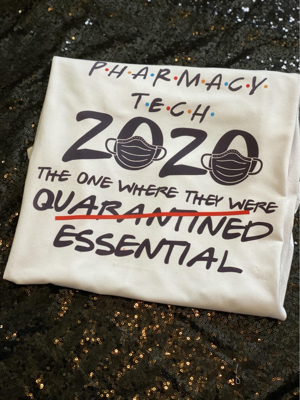 Essential Worker Pharmacy Tech T-Shirt