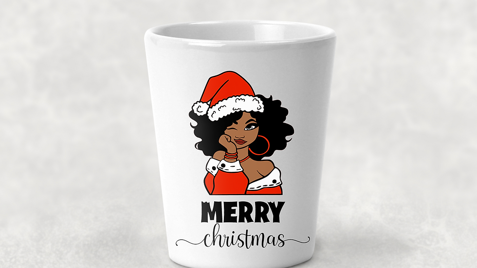 Melanin Christmas Shot Glass