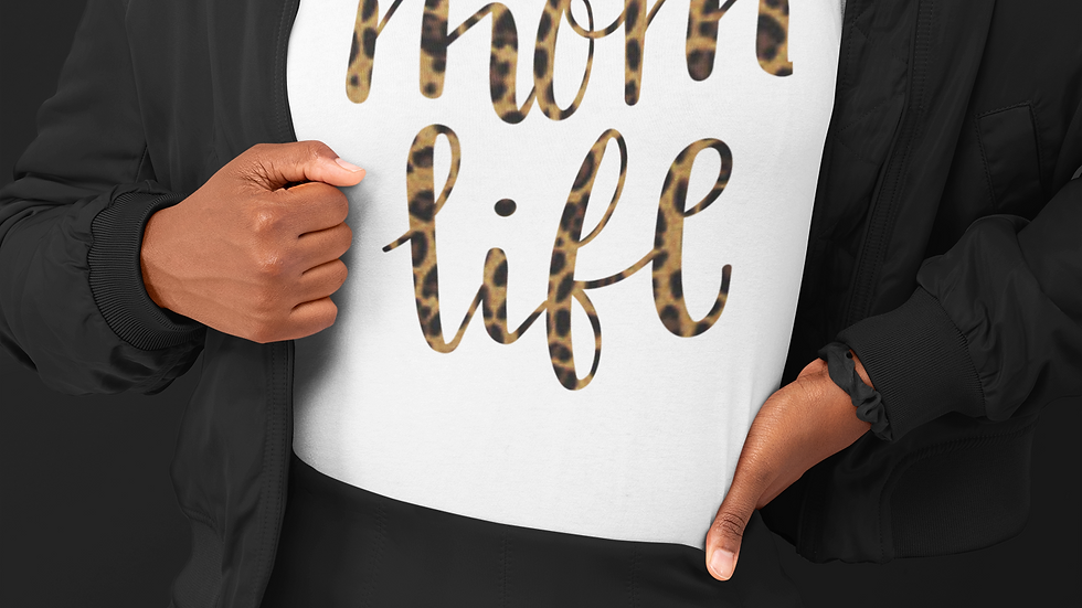 Leopard Mom Life T-Shirt
