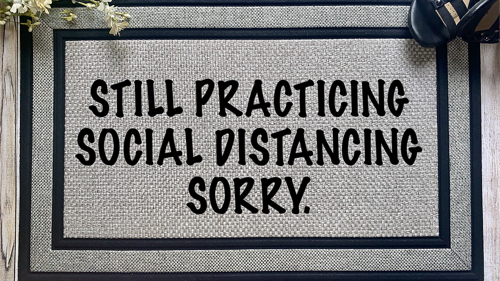 Social Distancing Door Mat