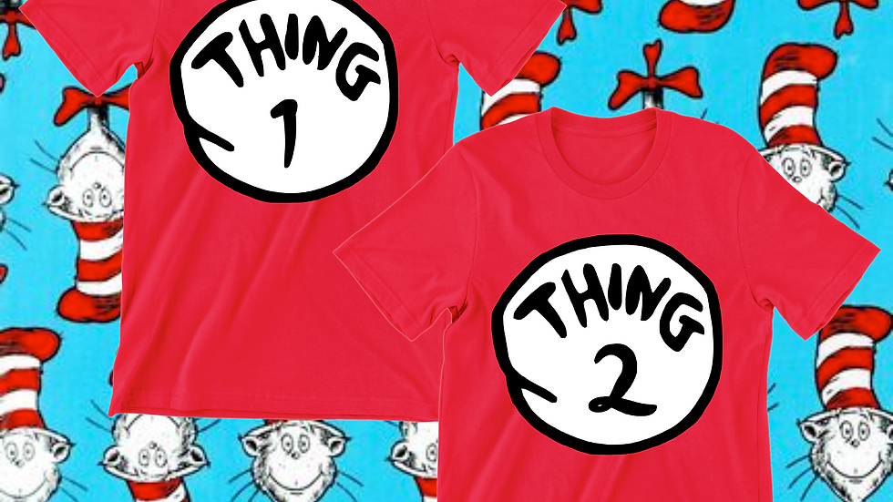 Dr. Seuss Thing 1 Thing 2 Tee