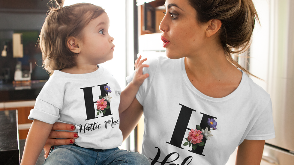 Mommy & Me Initial T-Shirts