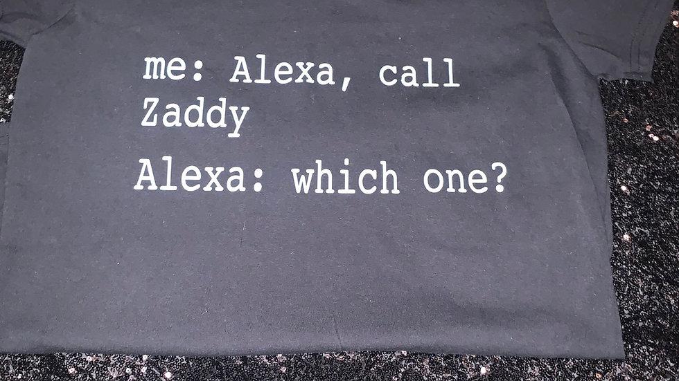 Alexa Call Zaddy Clearance T-Shirt