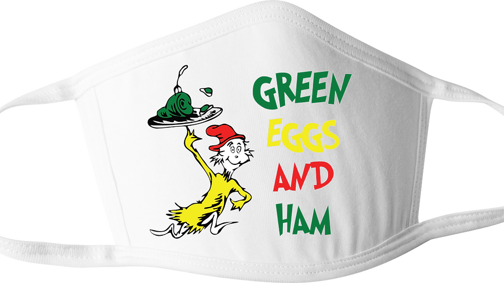 Green Eggs & Ham Dr. Seuss Mask
