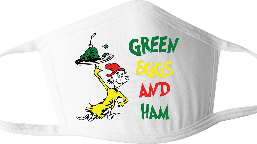 Green Eggs & Ham Dr. Seuss Mask