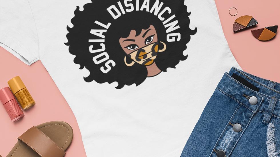 Afro Social Distancing Custom Mask T-Shirt