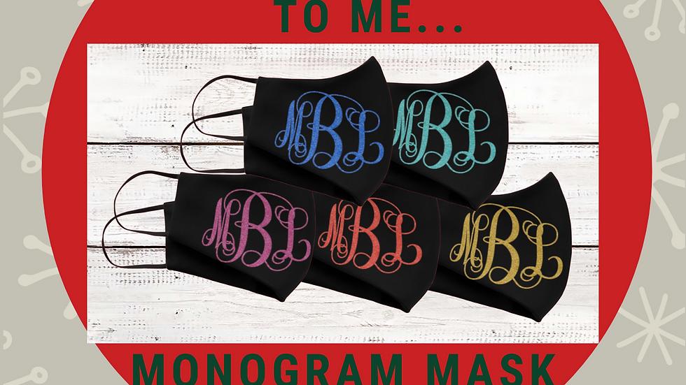 Monogram Face Mask