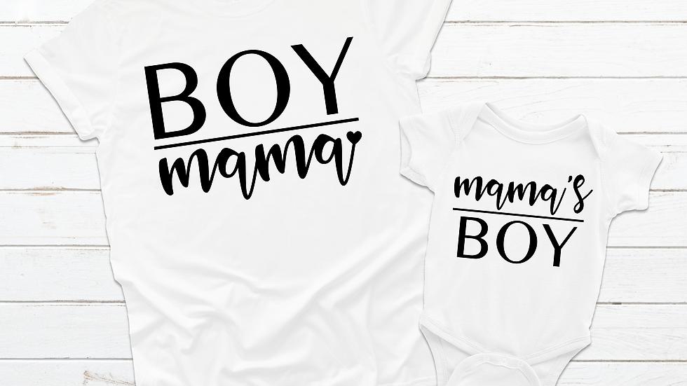 Mommy & Me Boy Mom T-Shirts