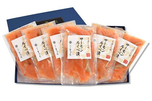 サーモンルイベ漬(125g×6パック)