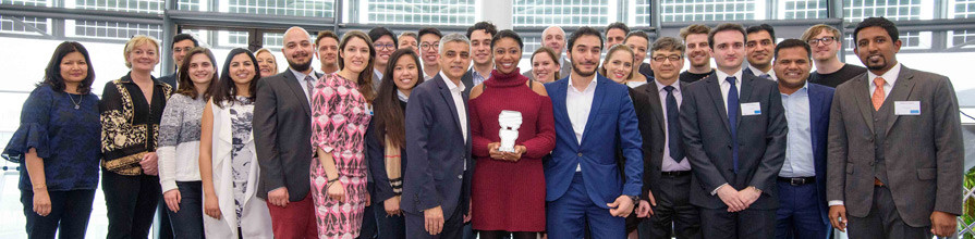 """""""Great to be a Mayor's Entrepreneur 2017 finalist!"""" Ehab Sayed, Biohm's Founder an"""