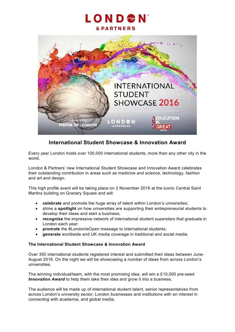 International Student Innovation Award... On the shortlist!