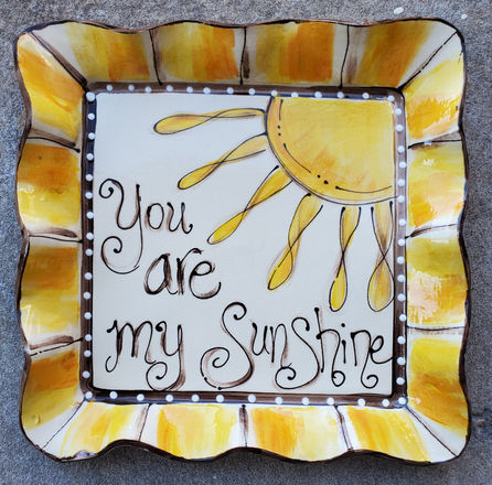 Sunshine Platter hand painted