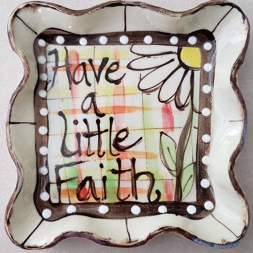 Candle plate Faith AW