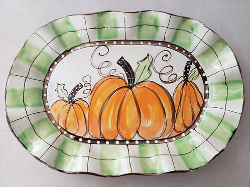 #114 Oval Platter Pumpkin GW