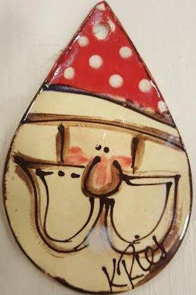 Teardrop Santa ornament