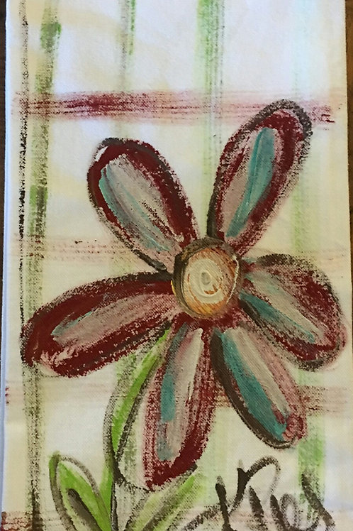 flower hand towel