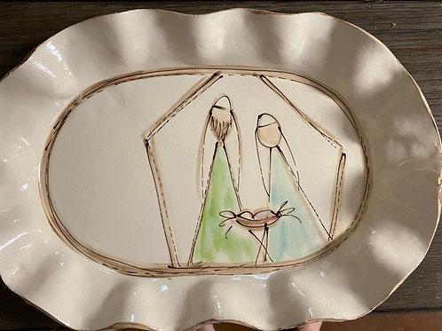 Large oval tray mjb ser