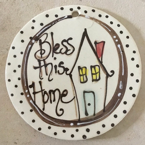 Round ornament bless home