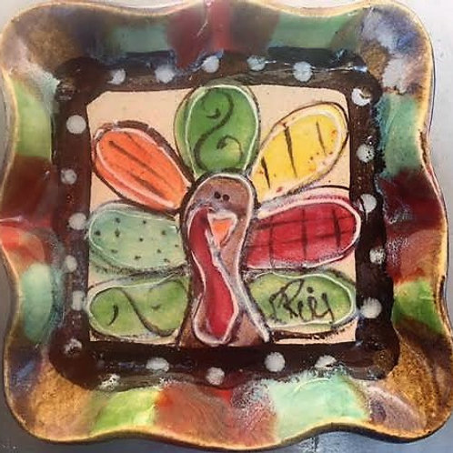 Square plate turkey