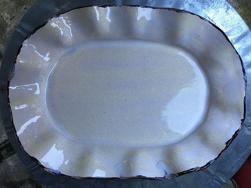 Oval platter pln mag apprx  14.5 x 10 x 1.5