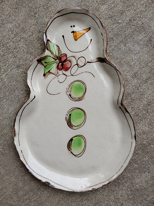 Snowman Shaped Plate