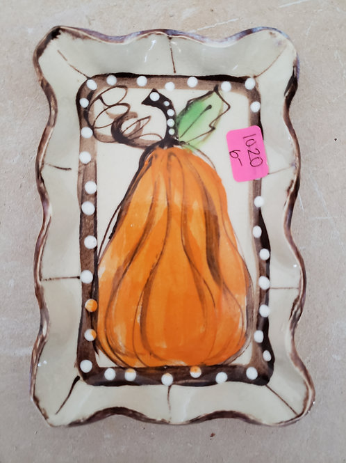 Small rectangular tray pumpkin