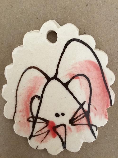 Hp oval bunny tag