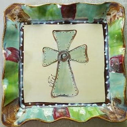 Square platter HP cross