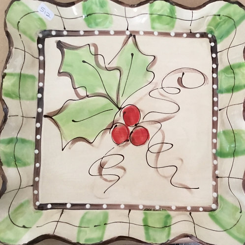 Square platter holly gw