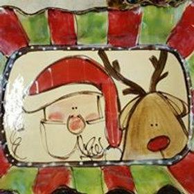Lasagna dish santa/reindeer rg