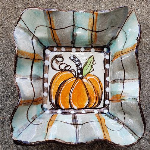 #99 Condiment Bowl Pumpkin Fall New