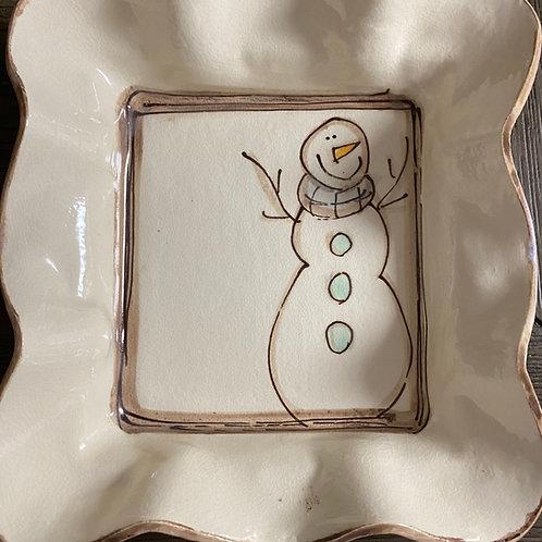 Small tray snowman ser