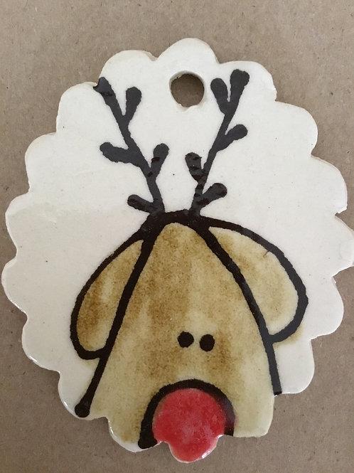 Hp reindeer tag