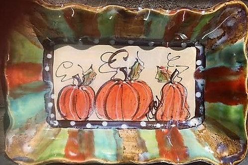 124 pumpkins ~ 13 x 9 x 1.5