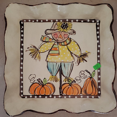 #512 Square Platter Scarecrow AW