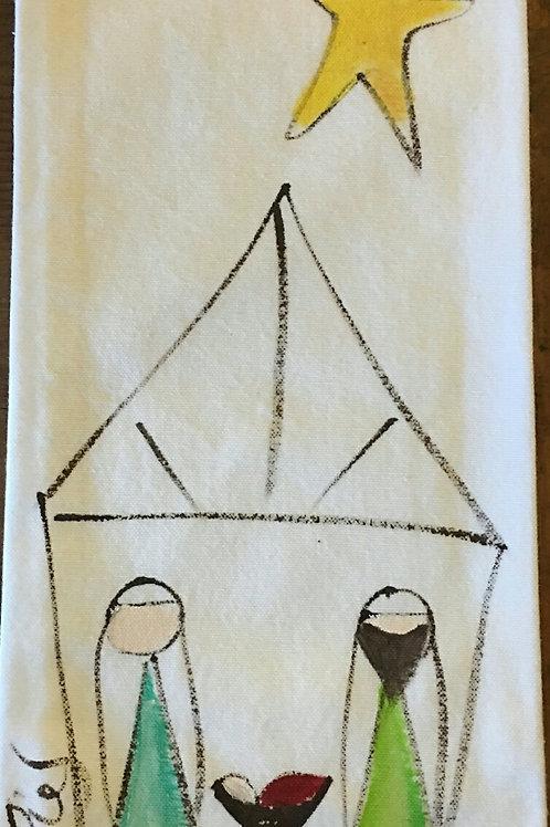 Nativity hand towel