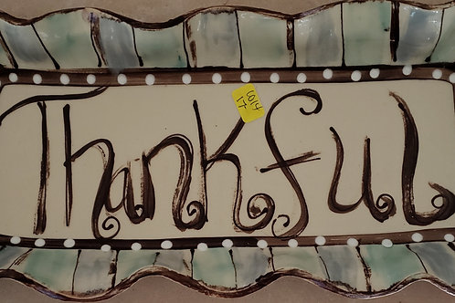 Rect Thankful tray
