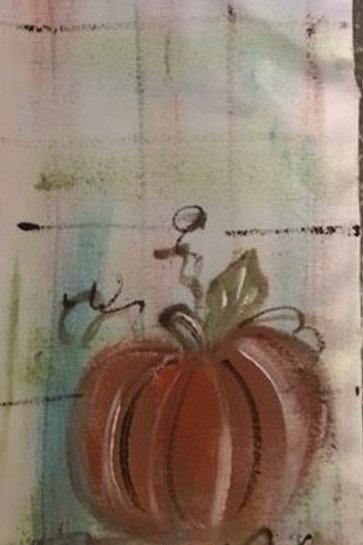 Pumpkin 1 hand towel