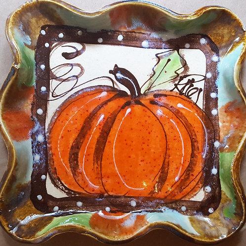 pumpkin tray and pumpkin hand towel set