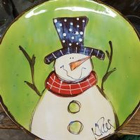 Dinner plate Snowman